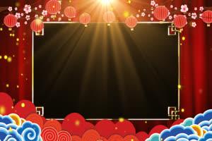 过年春节边框新年相框 抠像视频 带通道手机特效图片