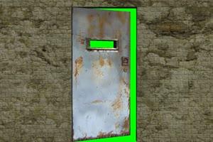 门 废弃铁门 免费绿幕视频