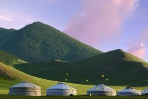 蒙古包 蓝天 白云 草原 巧