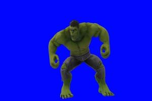 绿巨人 浩克 咆哮 3 漫威英雄 复仇者联盟 绿屏抠