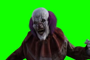恐怖小丑 万圣节绿布和绿幕视频抠像素材