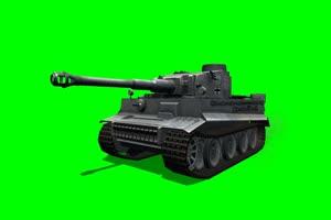 老虎 坦克 大炮 4 特效后期 绿屏抠像素材手机特效图片