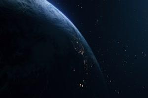 地球自转 行星太空背景视频05手机特效图片