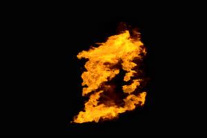带通道 真实火焰爆炸烟雾 燃烧火焰 特效后期 抠手机特效图片