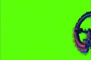 免费中国龙 飞旋绿幕视频素材 怪兽绿幕剪映抠像手机特效图片