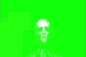 恐怖 人头面具 绿屏绿幕