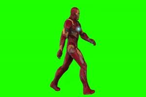 钢铁侠 走 3 漫威英雄 复仇者联盟 绿屏抠像 特效