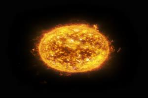2K真实太阳 抠像黑幕视频素材Sun3 带通道抠像视频手机特效图片