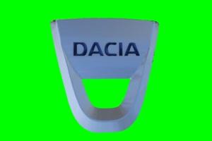 达西亚 Dacia logo 车标 绿屏抠像 特效素材手机特效图片