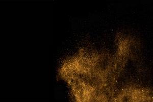 金黄色灰尘光斑光晕粒子 黑幕背景视频 抠像素材手机特效图片
