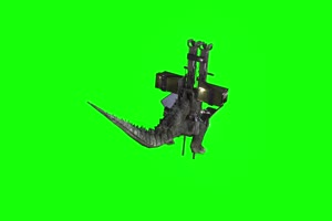哥斯拉战斗背面 绿幕抠像 绿布视频 特效抠像 剪手机特效图片