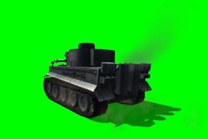 老虎 坦克 大炮 1 特效后期 绿屏抠像素材手机特效图片