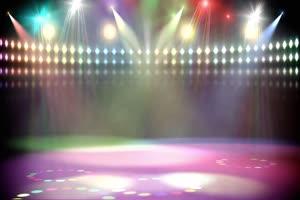 10舞台灯光秀聚光灯射灯舞绿布和绿幕视频抠像素材