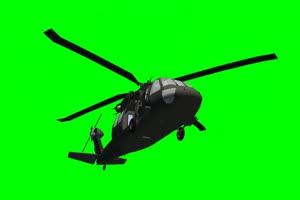 黑鹰 直升机 5 飞机 绿屏绿