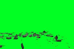 免费 石块爆炸 砖块爆炸 绿幕视频 绿幕素材免费手机特效图片