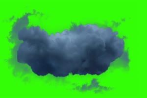乌云 动态 绿屏抠像素材巧影