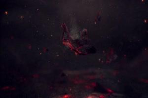 火苗火山火鸟 抠像视频 剪映特效素材 黑幕素材手机特效图片