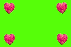 2020情人节 七夕节 爱心 情人 爱心 绿幕素材 15 巧手机特效图片