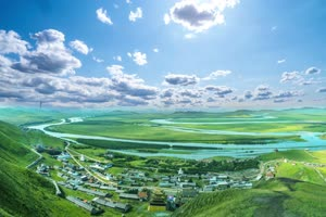清新草原蓝天白云 无音乐13特效背景视频素材手机特效图片