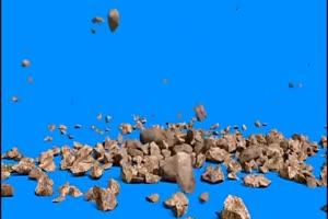 石头掉落 绿幕视频 绿屏视频 绿幕素材 特效牛手机特效图片