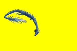 黑龙 黑龙舞动 飞天动物 绿幕抠像 特效视频 @特手机特效图片