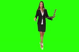商务人士 美女 职场08 绿屏抠像 特效素材 巧影