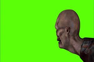 僵尸绿幕视频素材 怪兽绿幕剪映抠像@特效牛手机特效图片