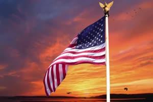 美国2 国旗绿幕后期抠像视频特效素材@特效牛免手机特效图片