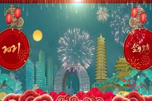 4K牛年春节拜年背景视频素材剪映免费下载 45手机特效图片