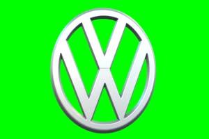 大众汽车 Volkswagen logo 车标 绿屏抠像 特效素材手机特效图片