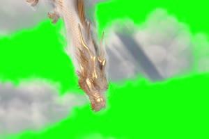 黄金龙 绿幕抠像 视频素材 巧影AE 剪映特效 手机手机特效图片
