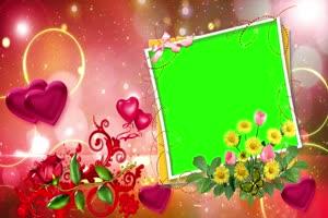 爱心 相框 绿屏抠像 巧影AE 特效素材 5手机特效图片