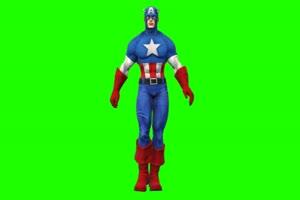 美国队长 11 漫威英雄 复仇绿布和绿幕视频抠像素材