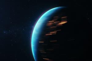 地球自转 行星太空背景视频02手机特效图片
