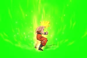 动漫龙珠角色 金发勇士后面 绿幕视频特效 抠像手机特效图片