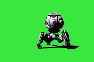 卫星机器 战斗机 机器人 视频特效 绿幕素材 抠像手机特效图片