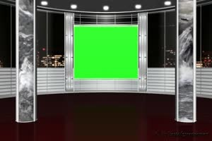 虚拟直播间 演播室 背景素
