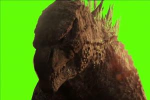 哥斯拉大战金刚2绿幕视频素材 剪映AE抠像特效手机特效图片
