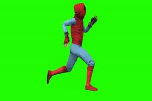 蜘蛛侠 跑 3 漫威英雄 复仇者联盟 绿屏抠像 特效手机特效图片