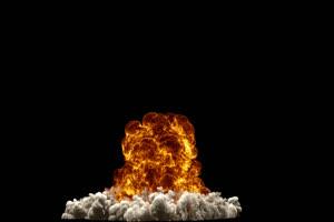 原子弹火焰爆炸 带通道 超清影视特效 抠像视频手机特效图片