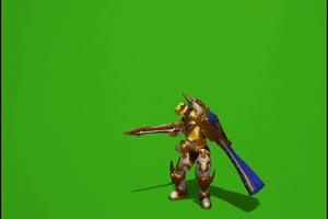 亚瑟狮心王 王者荣耀绿幕素材 抠像素材下载手机特效图片