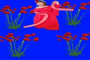 美女 91 仙女 跳舞 巧影抠像 AE抠像 绿幕素材手机特效图片