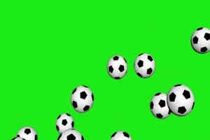 天降足球  体育 绿屏抠像素材手机特效图片