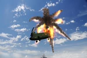 Chinook 直升机 飞机 绿屏绿幕 抠像素材手机特效图片