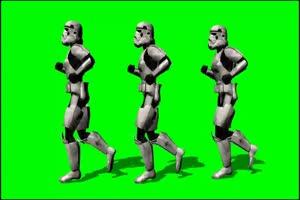 星球大战 帝国冲锋队 战士 4 绿屏绿幕特效抠像素手机特效图片