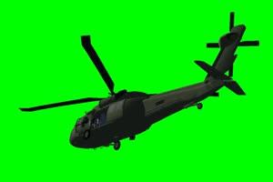 黑鹰 直升机 1 飞机 绿屏绿幕 抠像素材手机特效图片