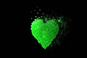 2020情人节 七夕节 爱心 情人 爱心 绿幕素材 26 巧手机特效图片