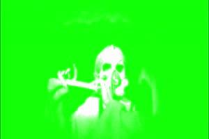 恐怖 人头  鬼 吹笛子 绿屏绿幕 抠像素材手机特效图片