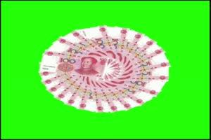 天降人民币 人民币 撒钱 下钱 3 绿屏抠像素材手机特效图片