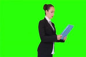 商务人士 美女 职场06 绿屏抠像 特效素材 巧影